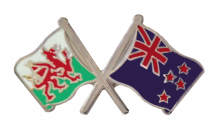 New Zealand and Wales Friendship Flag Pin Badge